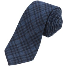 Altea Gange Textured Plaid Tie - Wool-Cashmere (For Men) in Navy - Closeouts