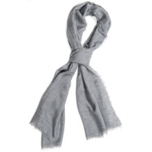 Altea Heathered Scarf - Modal-Wool (For Men) in Grey - Closeouts