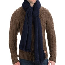 "Altea Knit Wool Boucle Scarf - 76x24"" (For Men) in Blue - Closeouts"