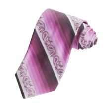 Altea Paisley and Stripe Tie - Silk (For Men) in Rose - Closeouts