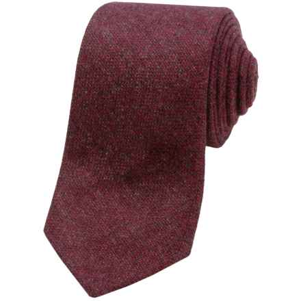 Altea Piave Cashmere Tie (For Men) in 3 Red Solid - Closeouts