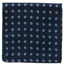 Altea Pine Pocket Square - Silk (For Men) in Navy - Closeouts