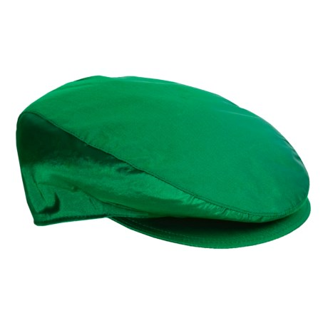 Altea Shantung Silk Driving Cap (For Men) in Green