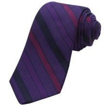 Altea Silk-Cotton Ticino Stripe Tie (For Men) in Purple - Closeouts
