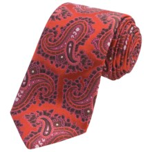 Altea Silk Senna 1 Paisley Tie (For Men) in Rust - Closeouts