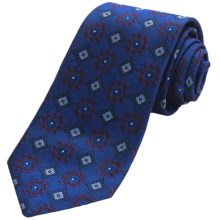 Altea Silk Ticino Medallion Tie (For Men) in Blue - Closeouts