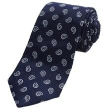 Altea Silk Tincino 2 Pine Tie (For Men) in Navy - Closeouts