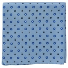 Altea Space Neat Pocket Square - Silk (For Men) in Blue - Closeouts