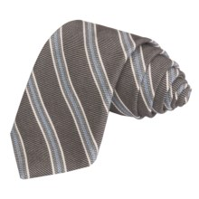 Altea Striped Tie - Wool-Cotton (For Men) in Brown - Closeouts