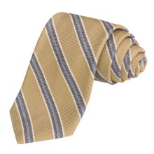 Altea Striped Tie - Wool-Cotton (For Men) in Gold - Closeouts