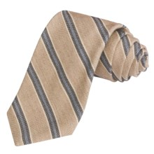 Altea Striped Tie - Wool-Cotton (For Men) in Oatmeal - Closeouts