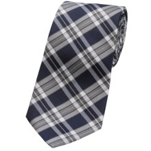 Altea Tamigi Plaid Tie - Silk (For Men) in Grey - Closeouts