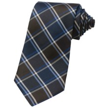 Altea Tamigi Silk Plaid Tie (For Men) in Navy - Closeouts