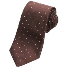 Altea Tamigi Small Dot Tie - Silk-Wool (For Men) in Brown - Closeouts