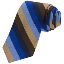 Altea Ticino 1 Bold Stripe Tie (For Men) in Blue - Closeouts