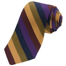 Altea Ticino 1 Bold Stripe Tie (For Men) in Purple - Closeouts