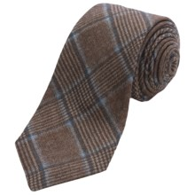 Altea Ticino 2 Plaid Tie - Wool (For Men) in Tan - Closeouts