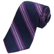 Altea Ticino 2 Stripe Tie - Silk (For Men) in Purple - Closeouts