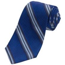 Altea Ticino 2 Stripe Tie - Silk (For Men) in Royal - Closeouts