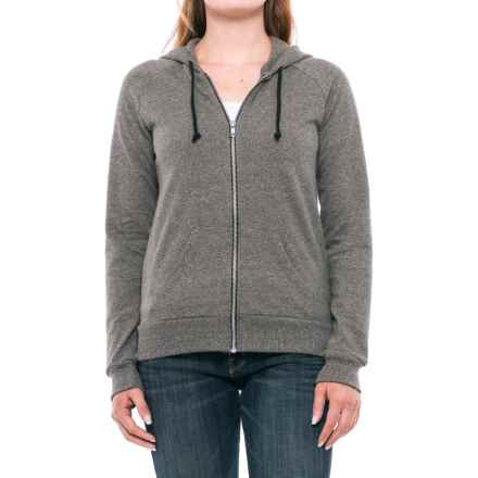 Alternative Apparel Adrian Twist Hoodie - Full Zip (For Women) in Eco Black - Closeouts