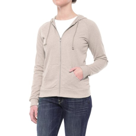 Alternative Apparel Adrian Twist Hoodie - Full Zip (For Women) in Eco Mock Nickel