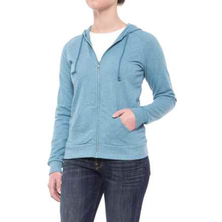Alternative Apparel Adrian Twist Hoodie - Full Zip (For Women) in Eco Mock Storm - Closeouts