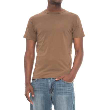 Alternative Apparel Basic T-Shirt - Short Sleeve (For Men) in Cigar - Overstock