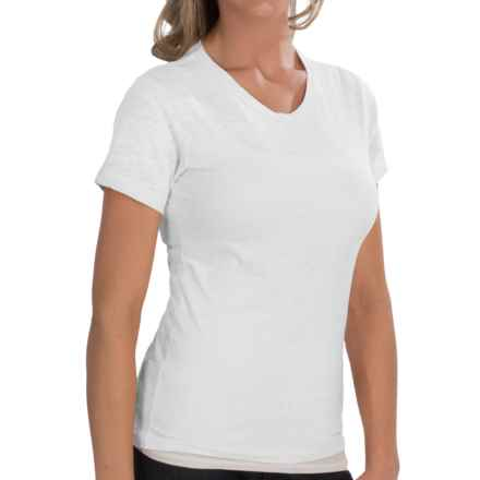 Alternative Apparel Burnout Jersey Knit T-Shirt - Crew Neck, Short Sleeve (For Women) in White - Closeouts
