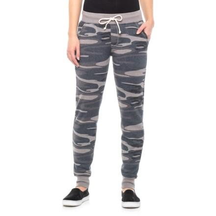 01889352977da1 Alternative Apparel Camo Fleece Joggers (For Women) in Slate Camo -  Closeouts