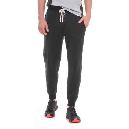 Alternative Apparel Campus Burnout French Terry Joggers (For Men) in True Black - Closeouts