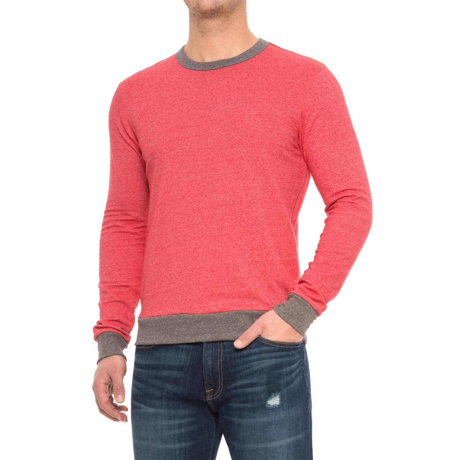 Alternative Apparel Champ Eco-Mock Twist Ringer Sweatshirt (For Men)