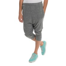 Alternative Apparel Chin Up Pants - Cropped Leg (For Women) in Eco Grey - Closeouts