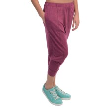 Alternative Apparel Chin Up Pants - Cropped Leg (For Women) in Eco True Berry - Closeouts