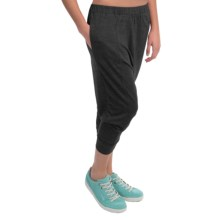 Alternative Apparel Chin Up Pants - Cropped Leg (For Women) in Eco True Black - Closeouts