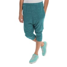 Alternative Apparel Chin Up Pants - Cropped Leg (For Women) in Eco True Blue Coral - Closeouts