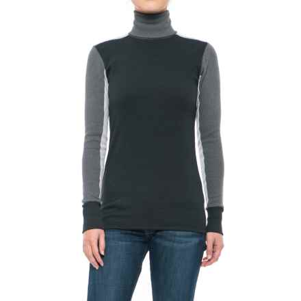 Alternative Apparel City Block Turtleneck - Long Sleeve (For Women) in Eco Mock Truebk - Closeouts
