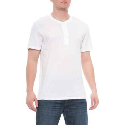 28c376f8c Alternative Apparel Earth White Organic Henley Shirt - Organic Cotton,  Short Sleeve (For Men