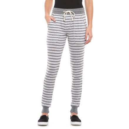e32c2d751b2 Alternative Apparel Eco Grey Riviera Stripe Classic Joggers (For Women) in  Eco Grey Riviera