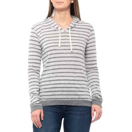 dc3e385b0fe69 Clearance. Alternative Apparel Eco Grey Riviera Stripe Yarn Dye Classic  Hoodie (For Women) in Eco