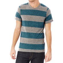 Alternative Apparel Eco Jersey Crew T-Shirt - Short Sleeve (For Men) in Eco Gray Storm Weahered Stripe - Closeouts