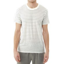Alternative Apparel Eco Jersey Crew T-Shirt - Short Sleeve (For Men) in Eco Wheat Stitch Stripe - Closeouts