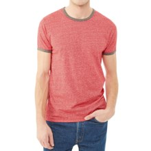 Alternative Apparel Eco-Mock Twist Ringer Jersey - Short Sleeve (For Men) in Eco Mock Engine Red - Closeouts