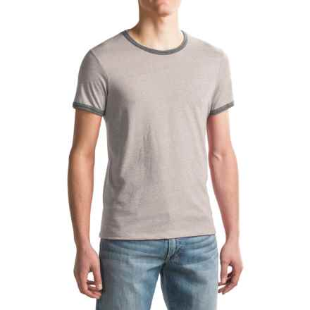 Alternative Apparel Eco-Mock Twist Ringer T-Shirt - Short Sleeve (For Men) in Eco Mock Nickel - Closeouts