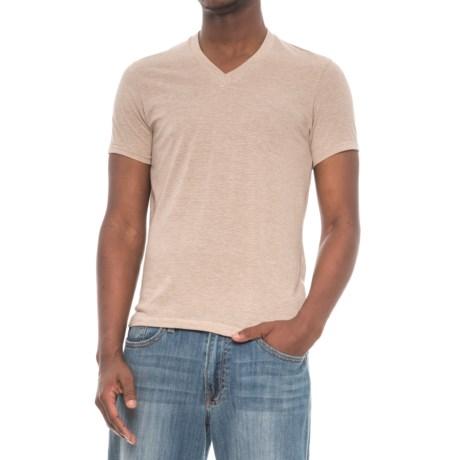 Alternative Apparel Feeder Stripe V-Neck T-Shirt - Short Sleeve (For Men) in Eco Sand/Eco Stone