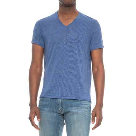 Alternative Apparel Feeder Stripe V-Neck T-Shirt - Short Sleeve (For Men) in Eco True Navy - Overstock