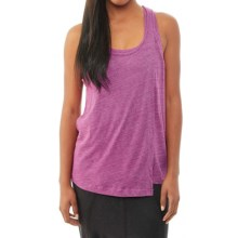 Alternative Apparel Feel Free Tank Top - Built-In Sports Bra, Racerback (For Women) in Eco True Magenta - Closeouts