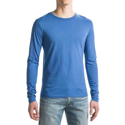 Alternative Apparel Heritage Shirt - Long Sleeve (For Men) in Pacific Blue - Closeouts
