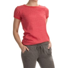 Alternative Apparel Ideal Ringer Eco-Mock Twist T-Shirt - Short Sleeve (For Women) in Eco Mock Engine Red - Closeouts