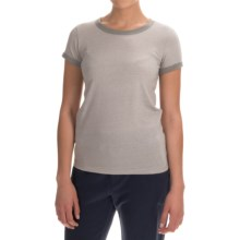 Alternative Apparel Ideal Ringer Eco-Mock Twist T-Shirt - Short Sleeve (For Women) in Eco Mock Nickel - Closeouts