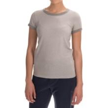 Alternative Apparel Ideal Ringer Eco-Mock Twist T-Shirt - Short Sleeve (For Women) in Eco Mock Nickel - Closeouts